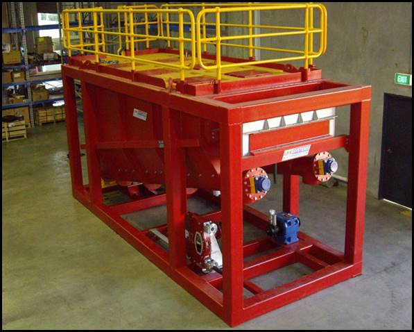 Offshore oil and gas screw feeder dual train